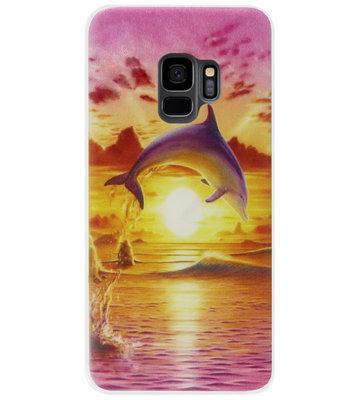 ADEL Kunststof Back Cover Hardcase Hoesje voor Samsung Galaxy S9 - Dolfijn