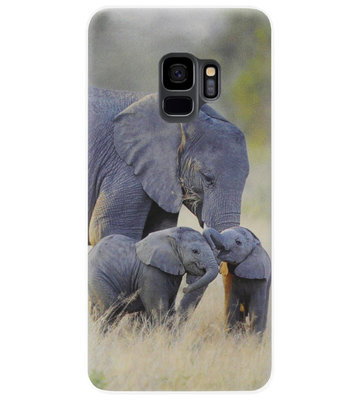 ADEL Siliconen Back Cover Softcase Hoesje voor Samsung Galaxy S9 - Olifant Familie