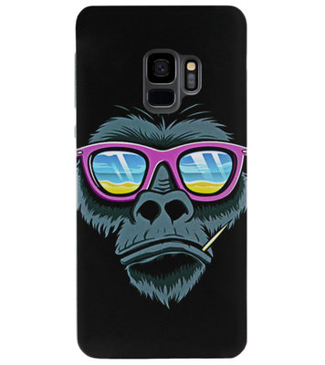 ADEL Siliconen Back Cover Softcase Hoesje voor Samsung Galaxy S9 - Gorilla Apen
