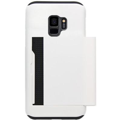ADEL Kunststof Back Cover Hardcase Hoesje voor Samsung Galaxy S9 - Pasjeshouder Wit