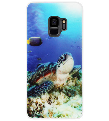 ADEL Siliconen Back Cover Softcase Hoesje voor Samsung Galaxy S9 - Schildpad