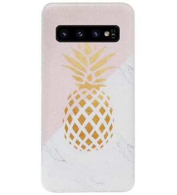 ADEL Siliconen Back Cover Softcase Hoesje voor Samsung Galaxy S10 - Ananas
