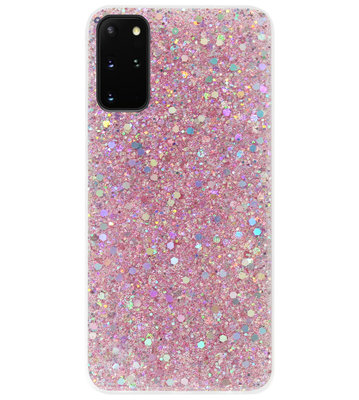 ADEL Premium Siliconen Back Cover Softcase Hoesje voor Samsung Galaxy S20 - Bling Bling Roze