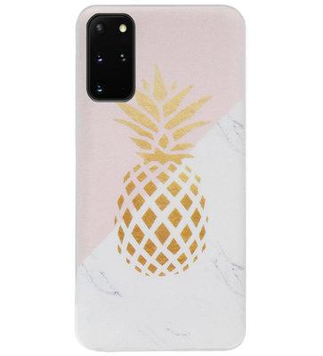 ADEL Siliconen Back Cover Softcase Hoesje voor Samsung Galaxy S20 - Ananas