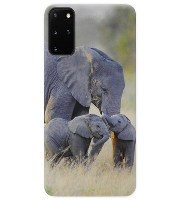 ADEL Siliconen Back Cover Softcase Hoesje voor Samsung Galaxy S20 - Olifant Familie