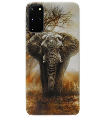 ADEL Siliconen Back Cover Softcase Hoesje voor Samsung Galaxy S20 - Olifanten