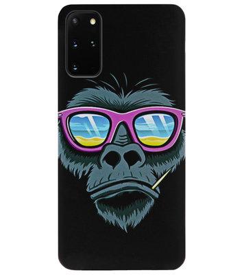 ADEL Siliconen Back Cover Softcase Hoesje voor Samsung Galaxy S20 - Gorilla Apen