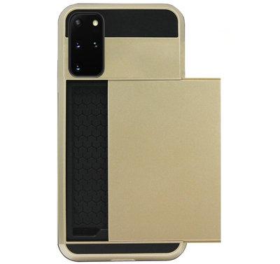ADEL Kunststof Back Cover Hardcase Hoesje voor Samsung Galaxy S20 - Pasjeshouder Goud
