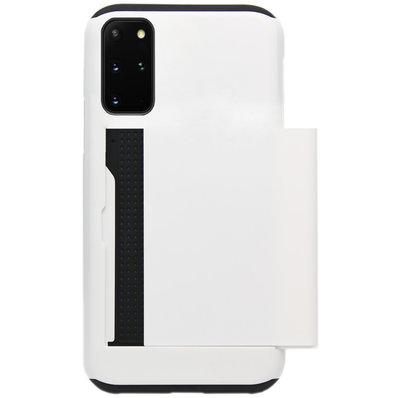 ADEL Kunststof Back Cover Hardcase Hoesje voor Samsung Galaxy S20 - Pasjeshouder Wit