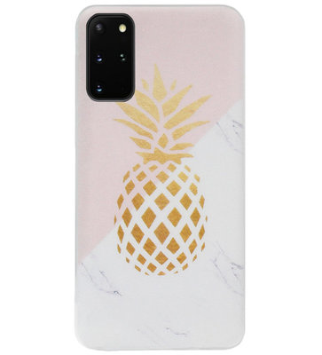 ADEL Siliconen Back Cover Softcase Hoesje voor Samsung Galaxy S20 Plus - Ananas