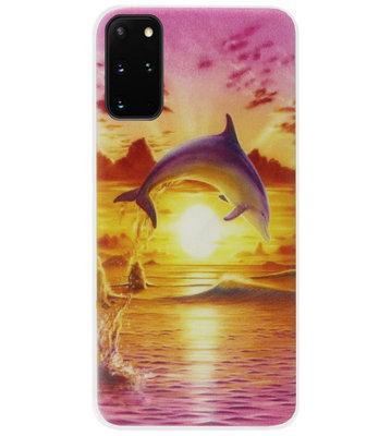 ADEL Kunststof Back Cover Hardcase Hoesje voor Samsung Galaxy S20 Plus - Dolfijn