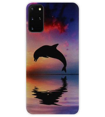 ADEL Kunststof Back Cover Hardcase Hoesje voor Samsung Galaxy S20 Plus - Dolfijn Blauw