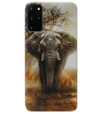 ADEL Siliconen Back Cover Softcase Hoesje voor Samsung Galaxy S20 Plus - Olifanten