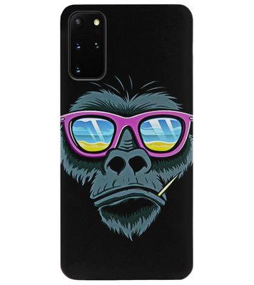 ADEL Siliconen Back Cover Softcase Hoesje voor Samsung Galaxy S20 Plus - Gorilla Apen