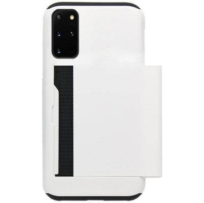 ADEL Kunststof Back Cover Hardcase Hoesje voor Samsung Galaxy S20 Plus - Pasjeshouder Wit