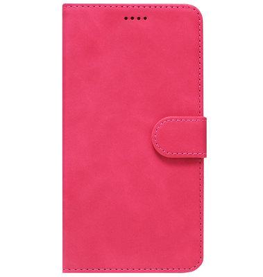 ADEL Kunstleren Book Case Pasjes Portemonnee Hoesje voor Samsung Galaxy S20 Plus - Roze