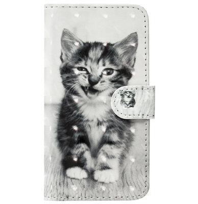 ADEL Kunstleren Book Case Pasjes Portemonnee Hoesje voor Samsung Galaxy S20 Plus - Kat