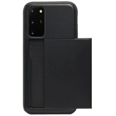 ADEL Kunststof Back Cover Hardcase Hoesje voor Samsung Galaxy S20 Plus - Pasjeshouder Zwart