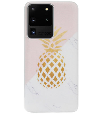 ADEL Siliconen Back Cover Softcase Hoesje voor Samsung Galaxy S20 Ultra - Ananas