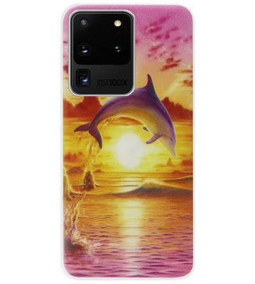 ADEL Kunststof Back Cover Hardcase Hoesje voor Samsung Galaxy S20 Ultra - Dolfijn