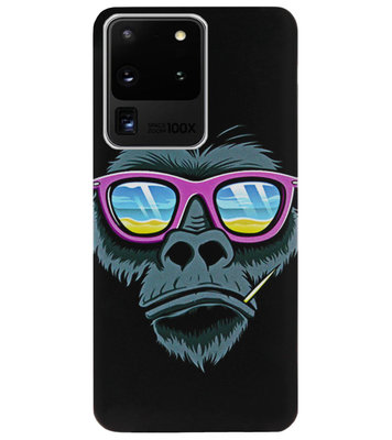 ADEL Siliconen Back Cover Softcase Hoesje voor Samsung Galaxy S20 Ultra - Gorilla Apen