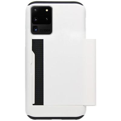 ADEL Kunststof Back Cover Hardcase Hoesje voor Samsung Galaxy S20 Ultra - Pasjeshouder Wit