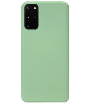 ADEL Premium Siliconen Back Cover Softcase Hoesje voor Samsung Galaxy S20 - Lichtgroen