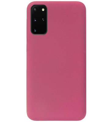 ADEL Premium Siliconen Back Cover Softcase Hoesje voor Samsung Galaxy S20 - Bordeaux Rood