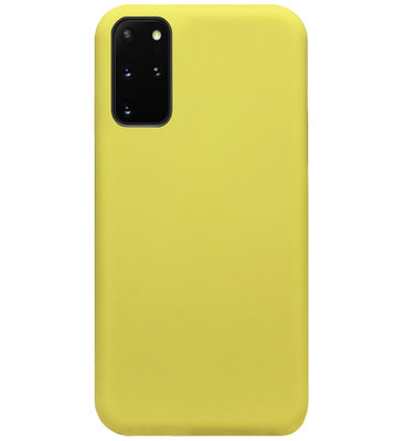 ADEL Premium Siliconen Back Cover Softcase Hoesje voor Samsung Galaxy S20 - Geel