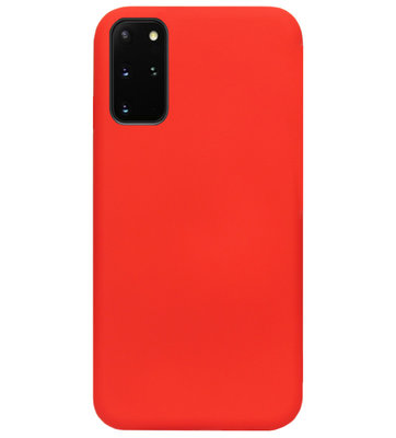 ADEL Premium Siliconen Back Cover Softcase Hoesje voor Samsung Galaxy S20 - Rood