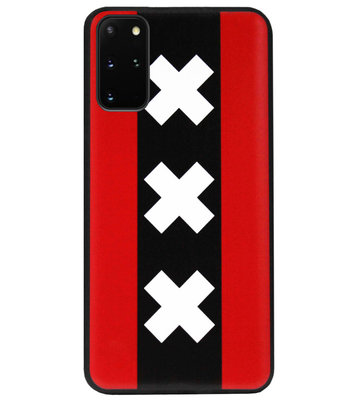 ADEL Siliconen Back Cover Softcase Hoesje voor Samsung Galaxy S20 - Amsterdam Andreaskruisen