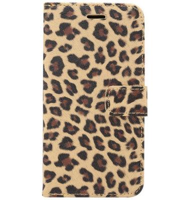 ADEL Kunstleren Book Case Pasjes Portemonnee Hoesje voor Samsung Galaxy S20 - Luipaard Bruin