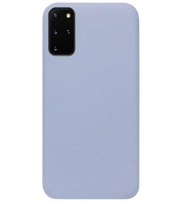 ADEL Premium Siliconen Back Cover Softcase Hoesje voor Samsung Galaxy S20 Plus - Lavendel Grijs