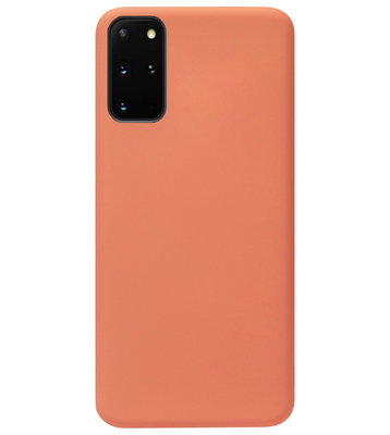 ADEL Premium Siliconen Back Cover Softcase Hoesje voor Samsung Galaxy S20 Plus - Oranje