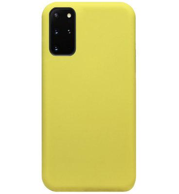 ADEL Premium Siliconen Back Cover Softcase Hoesje voor Samsung Galaxy S20 Plus - Geel