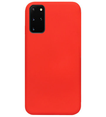 ADEL Premium Siliconen Back Cover Softcase Hoesje voor Samsung Galaxy S20 Plus - Rood
