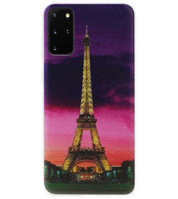 ADEL Siliconen Back Cover Softcase Hoesje voor Samsung Galaxy S20 Plus - Parijs Eiffeltoren