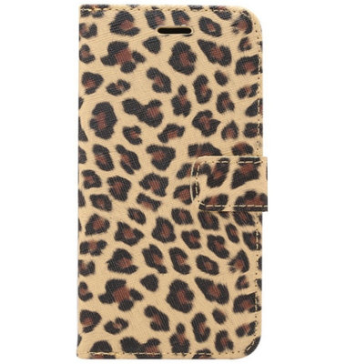ADEL Kunstleren Book Case Pasjes Portemonnee Hoesje voor Samsung Galaxy S20 Plus - Luipaard Bruin