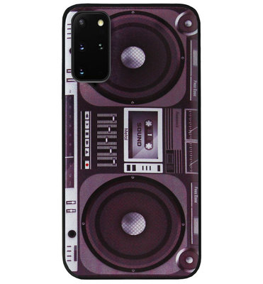 ADEL Siliconen Back Cover Softcase Hoesje voor Samsung Galaxy S20 Plus - Radio Muziek
