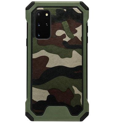 ADEL Kunststof Bumper Case Hoesje voor Samsung Galaxy S20 Plus - Camouflage
