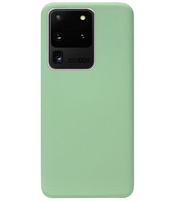 ADEL Premium Siliconen Back Cover Softcase Hoesje voor Samsung Galaxy S20 Ultra - Lichtgroen
