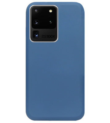 ADEL Premium Siliconen Back Cover Softcase Hoesje voor Samsung Galaxy S20 Ultra - Blauw