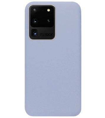 ADEL Premium Siliconen Back Cover Softcase Hoesje voor Samsung Galaxy S20 Ultra - Lavendel Grijs