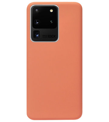ADEL Premium Siliconen Back Cover Softcase Hoesje voor Samsung Galaxy S20 Ultra - Oranje