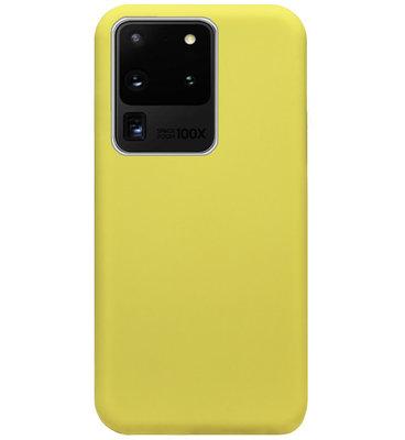 ADEL Premium Siliconen Back Cover Softcase Hoesje voor Samsung Galaxy S20 Ultra - Geel