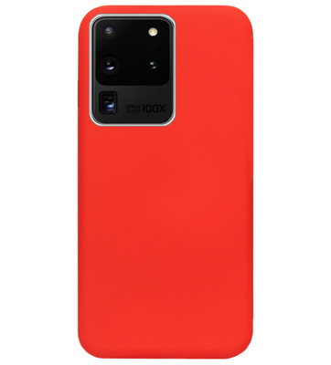 ADEL Premium Siliconen Back Cover Softcase Hoesje voor Samsung Galaxy S20 Ultra - Rood