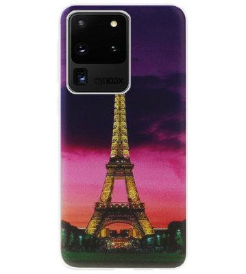 ADEL Siliconen Back Cover Softcase Hoesje voor Samsung Galaxy S20 Ultra - Parijs Eiffeltoren