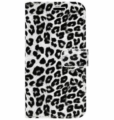 ADEL Kunstleren Book Case Pasjes Portemonnee Hoesje voor Samsung Galaxy S20 Ultra - Luipaard Wit
