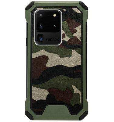ADEL Kunststof Bumper Case Hoesje voor Samsung Galaxy S20 Ultra - Camouflage