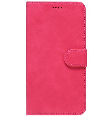 ADEL Kunstleren Book Case Pasjes Portemonnee Hoesje voor Samsung Galaxy J3 (2015)/ J3 (2016) - Roze